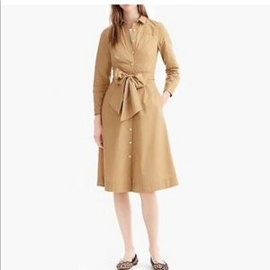 NMOT Jcrew Tie- Waist Shirtdress in size 4